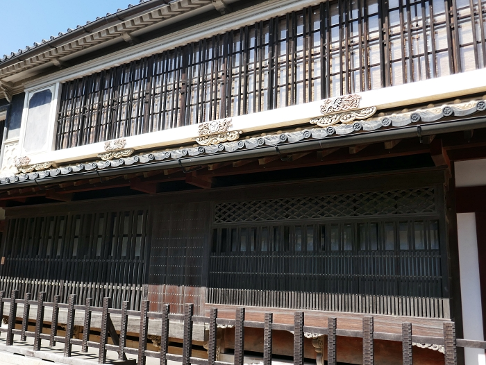Facciata della residenza Honhaga a Uchiko Shikoku