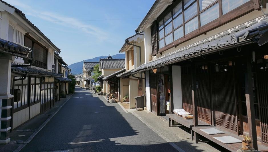 case del periodo Edo nel quartiere storico di Uchiko
