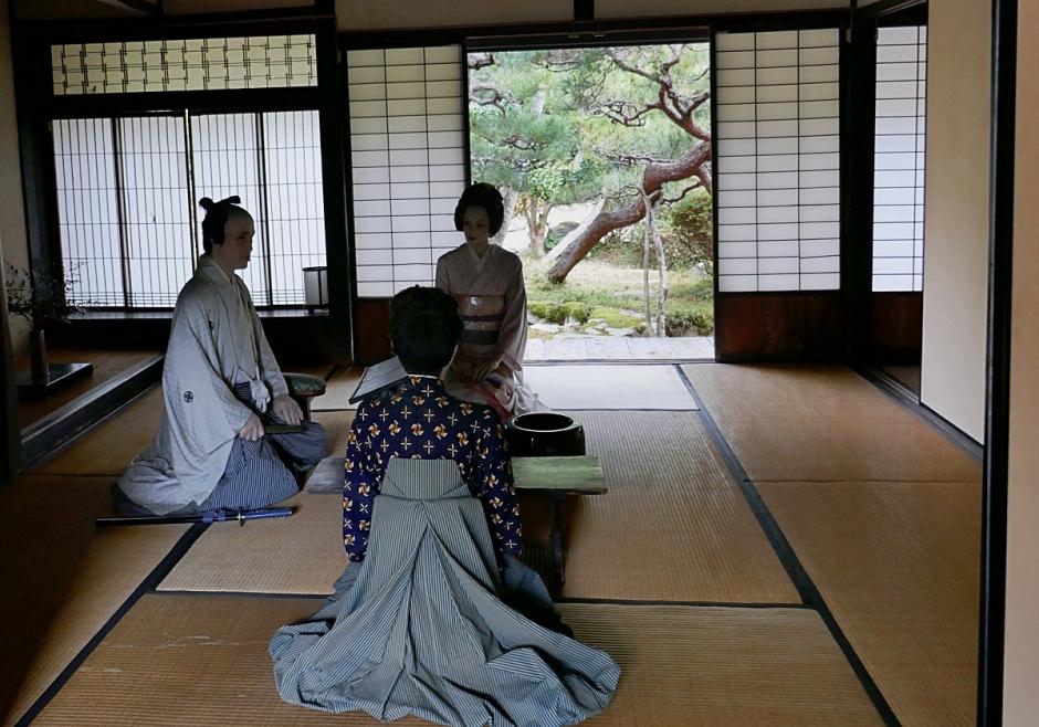 Washitsu casa del samurai con finestre munite di kumiko shōji