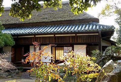 casa del samurai di Ashimori con tetto in paglia