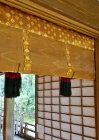 sudare con bordi di seta in un tempio di Kyoto