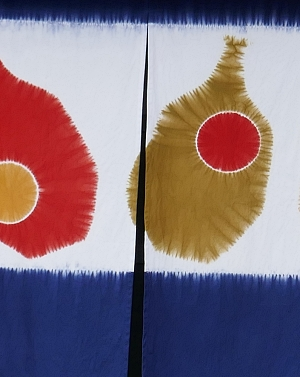noren con motivi a colori vivaci